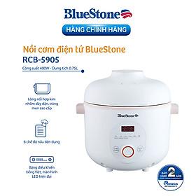 Nồi Cơm Điện Tử BlueStone RCB-5905 (0.75L - 400W ) - Hàng chính hãng