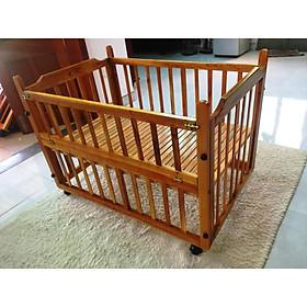 Giường cũi em bé hai tầng thay mẹ chăm sóc con loại lớn (giá xưởng)