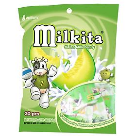 Kẹo viên Milkita hỗn hợp vị Dưa Gang (Bịch 30 viên)