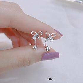 Bông tai nữ chất liệu bạc 925 hình nơ MS52c