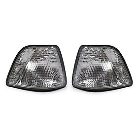 A Pair of Turn Signal Light With White Lens Replacement For BMW E36 318i 328i M3