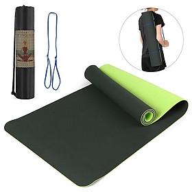 Thảm yoga 6mm 2 lớp TPE( Tặng bao đựng+ Dây Buộc Thảm) Chính Hãng Đủ Màu Sắc Đủ Độ Dày