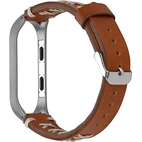 〖Follure〗Replacement Leather Wristband Band Strap+ Metal Case For Xiaomi Mi Band 3