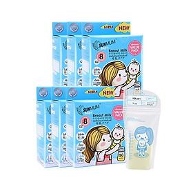 Combo 02 hộp túi trữ sữa Sunmum 250ml - mỗi hộp chưa 50 túi trữ sữa Sunmum dung tích 250ml có kiểm định y tế