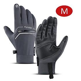 Gloves Hand Warmer Gloves Sensitive Screen Touching/ Waterproof/ Back Zipper Storage Design for Outdoor Activities