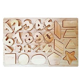 Đồ chơi gỗ - Bảng chữ số - Đồ chơi an toàn