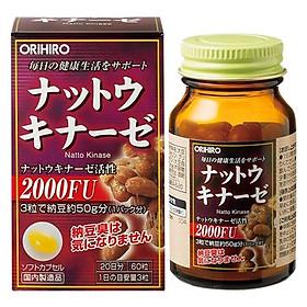 Thực Phẩm Chức Năng Viên Uống Hỗ Trợ Điều Trị đột quỵ, tai biến Nattokinase Orihiro Nhật Bản
