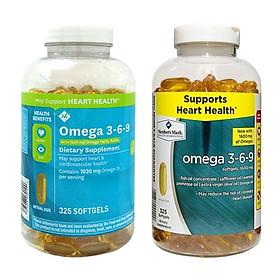 Viên uống dầu cá Member's Mark Omega 3-6-9 Supports Heart Health, 325 viên (Mẫu mới) - Nhập khẩu Mỹ