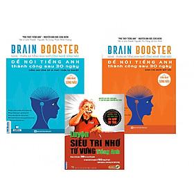 Combo Sách Brain Booster - Nghe - Phản Xạ Tiếng Anh Nhờ Công Nghệ Sóng Não ( Tặng Ngay Luyện Siêu Trí Nhớ Từ Vựng Tiếng Anh )