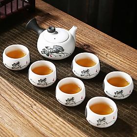 Bộ Tách Trà Ấm Pha Đẹp Và Dễ Dàng Bằng Gốm Sứ Cho Gia Đình Du Lịch Phong Cách Trung Quốc