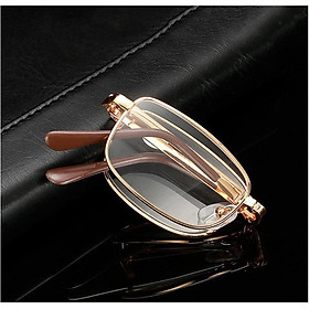 Kính lão thị viễn thị gập g�n KVM01CP có bao da sẵn độ mắt cực sáng và rõ Nam nữ