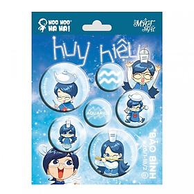 Hình đại diện sản phẩm Huy Hiệu Bảo Bình Vol.1 HooHooHaHa HHBBS1 (15 x 20 cm)