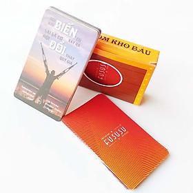 Bộ 52 Bookmark Cảm Hứng - Fususu Card Red từ #105 tới #156 - Các Câu Nói Hay Truyền Cảm Hứng Sống - Hình Ảnh Châm Ngôn Tạo Động Lực Mạnh - Đựng Trong Hòm Kho Báu Sáng Tạo Dễ Thương