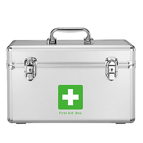 Vilscijon Wei Jian medical box home first aid kit out of the box medical storage box with lock aluminum alloy family medicine box multi-function large medicine box 3312