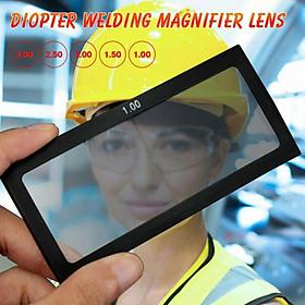Welding Helmet Magnify Lens Diopter Welding Mask External 110mmx55mm 1.0