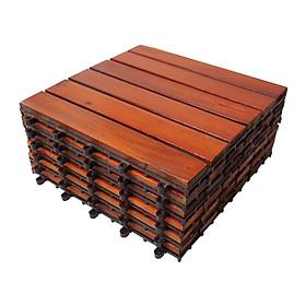 Thùng ván gỗ lót sàn 6 nan - nâu đỏ