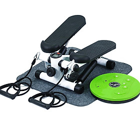 Máy chạy bộ mini tặng kèm dây kéo và đĩa xoay eo thể dục toàn diện tại nhà
