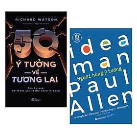 Combo sách về tạo ý tưởng hay : 50 ý tưởng về tương lai + Ideaman - Người hùng ý tưởng - Tặng kèm Postcard HAPPY LIFE
