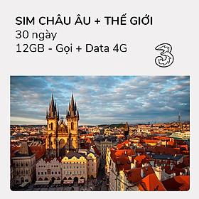 Hình đại diện sản phẩm Sim 4G Châu Âu + Thế giới 12GB (Gọi + DATA)