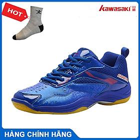 Giày cầu lông kawasaki K086 chính hãng dành cho cả nam và nữ, chuyên nghiệp chống trơn trượt  - tặng tất thể thao bendu