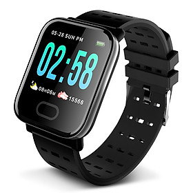 Smart Bracelet Fitness Tracker Large Screen Health Monitoring Blood Pressure Heart Rate Sleeping Sports Detecting