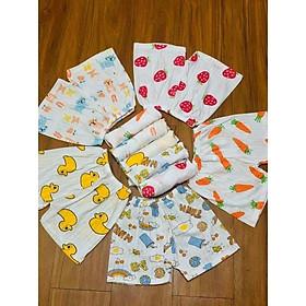 10 cái Quần cộc dài, cotton giấy cho bé trai, bé gái size 3-16kg