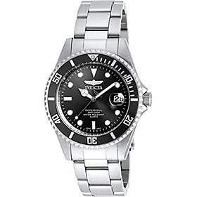 Invicta Men's 8932OB Pro Diver Analog Quartz Silver; Dial color - Black Stainless Steel Watch