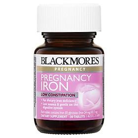 Viên Sắt Dành Cho Bà Bầu Blackmores Pregnancy Iron 3O Viên