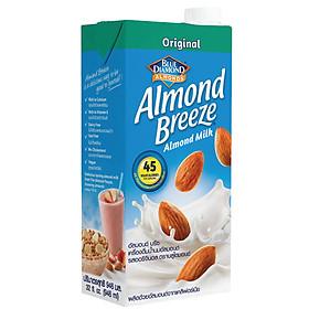 Sữa hạt hạnh nhân ALMOND BREEZE NGUYÊN CHẤT Hộp 946ml - Sản phẩm của TẬP ĐOÀN BLUE DIAMOND MỸ - Đứng đầu về sản lượng tiêu thụ tại Mỹ