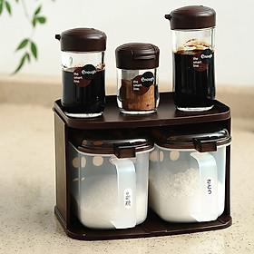 Com 3 lọ nhựa đựng gia vị rót xì dầu/ nước tương, nước mắm 100ml  hàng nội địa Nhật Bản
