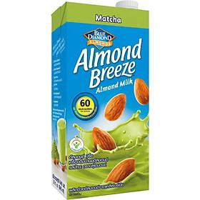 Sữa hạt hạnh nhân ALMOND BREEZE MATCHA 946ml - Sản phẩm của TẬP ĐOÀN BLUE DIAMOND MỸ - Đứng đầu về sản lượng tiêu thụ tại Mỹ