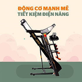 Máy Chạy Bộ Poongsan TMP-250 Kèm Máy Massage , Tạ Tay , Khung Gập Bụng , Có Thể Gấp Gọn , Không Gây Tiếng Ồn Có Thể Dùng Cho Hộ Gia Đình Hoặc Phòng Tập