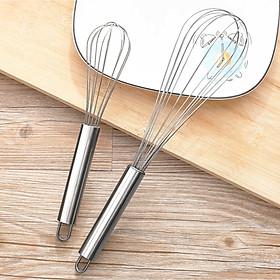[COMBO 2 Chiếc] Cây đánh trứng INOX bền đẹp vệ sinh - Dụng cụ làm bánh tiện dụng