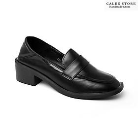 MỚI VỀ CÓ SẴN giày Loafer moca lười nữ cao cấp da mềm đế cao 5cm tôn dáng dễ phối đồ Hà Nội giao nhanh toàn quốc