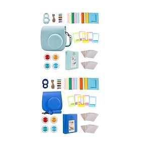 For  Instax Mini 9 Camera PU Case Filter+Close Up