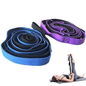 Yoga Daisy Chains Multi-loop Yoga Strap Nonelastic Stretching Band for Pilates Dance Therapy Gymnastics-4