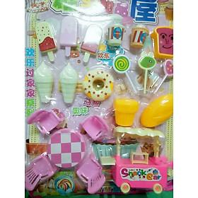 Vĩ đồ chơi quán kem cho bé