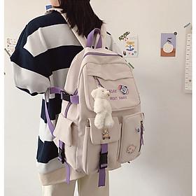 Cặp Học Sinh Nữ Version Hàn Quốc Ulzzang Balo Học Sinh Nữ Dễ Thương Sinh Động Dành Cho Học Sinh Tiểu Học Trung Học