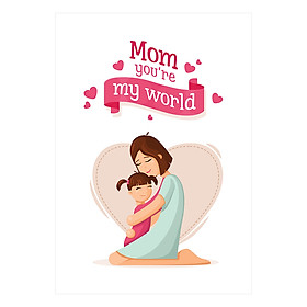Sổ Lò Xo Notebook Minh Long - Mom You'Re My World (196 Trang)