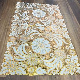 Tấm khăn trải bàn bằng nhựa không thấm nước, 60cm x 1m, giao màu ngẫu nhiên