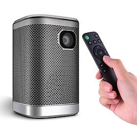 Máy chiếu mini DLP với đèn 4500 Lumens hỗ trợ điều khiển cảm ứng từ xa và dàn loa HIFI dùng cho gia đình