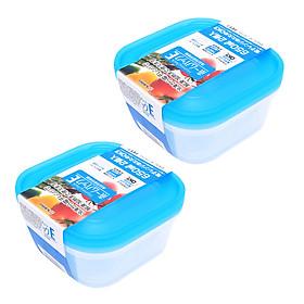 Combo hộp nhựa 650ml màu xanh