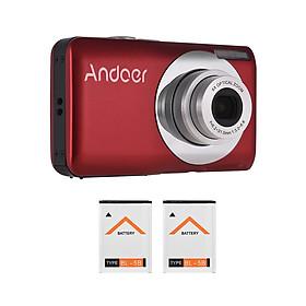 Máy Ảnh Quay Video Kỹ Thuật Số Andoer Kèm 2 Pin (16Mp) (720P HD) (4X Zoom)