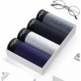 Hộp 4 quần lót nam Boxer Nanjiren ( quần sịp đùi ) hàng nhập câp cấp QL4