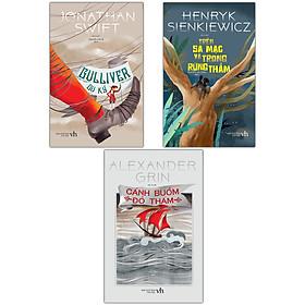 Combo 3 cuốn Văn Học Kinh Điển - Gulliver Du Ký - Cánh Buồm Đỏ Thắm - Trên Sa Mạc Và Trong Rừng Thẳm