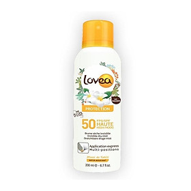 Xịt chống nắng LOVEA Brume sèche invisible Haute Protection FPS 50 200ml