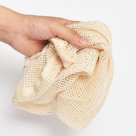 Túi Lưới Shopping Cotton Tái Sử Dụng, Dây Rút Tiện Lợi, Đa Mục Đích Sử Dụng Bảo vệ môi trường