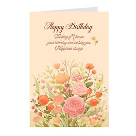 Thiệp sinh nhật Birthday chữ ép nhũ -  Greenwood (395-BDP06)