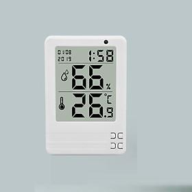 Nhiệt ẩm kế mini màn hình LCD 3.2 inch WDJ-03 (Màu ngẫu nhiên) - (Tặng kèm miếng thép đa năng 11in1)