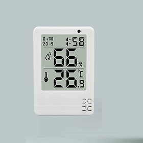 Đồng hồ đo nhiệt độ, độ ẩm ( Phạm vi đo nhiệt độ -10°C ~ 70°C; Độ chính xác±1°C ( 1.8°F); giao màu ngẫu nhiên ) - Tặng kèm 01 móc khóa tô vít ba chức năng